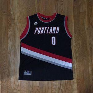 NBA Damian Lillard Jersey Youth Large